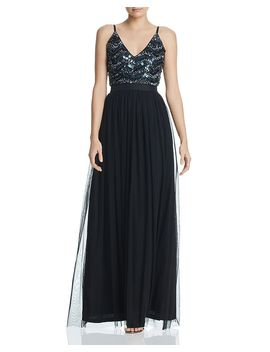 Embellished Bodice Gown   100 Percents Exclusive by Aqua