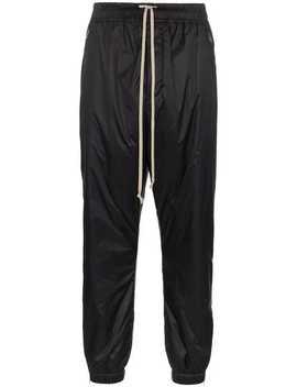 Drawstring Nylon Track Pants by Rick Owens
