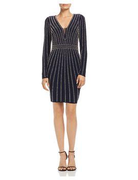 Beaded Long Sleeve Dress   100 Percents Exclusive by Aqua