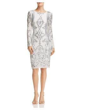 Sequined Sheath Dress   100 Percents Exclusive by Aqua