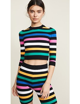 3/4 Sleeve Crop Top Sweater by Joos Tricot