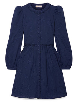 Embroidered Cotton Voile Mini Dress by Michael Michael Kors