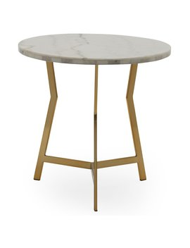 Mo Drn Glam Lena Geo Base End Table by Mo Drn