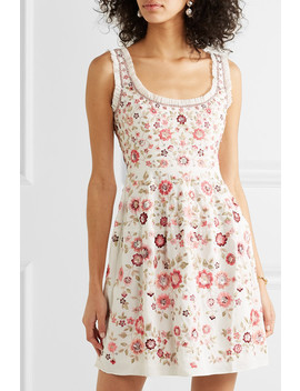Floral Romance Ruffled Sequin Embellished Tulle Mini Dress by Needle & Thread
