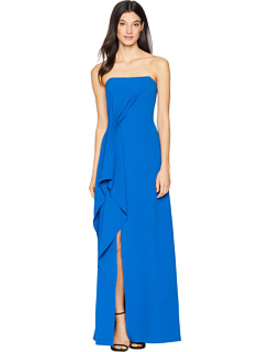 Strapless Drape Front Crepe Gown by Halston Heritage