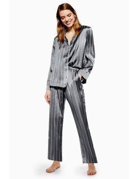 Satin Stripe Pyjama Trousers by Topshop