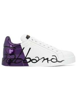 Metallic Heel Sneakers by Dolce & Gabbana