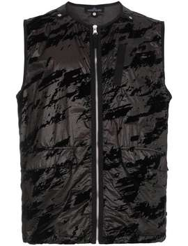 Black Camouflage Gilet by Stone Island Shadow Project