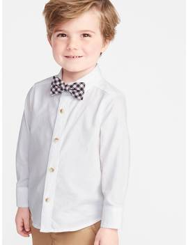 Long Sleeve Shirt & Printed Bow Tie Set For Toddler Boys by Old Navy
