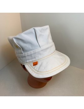 Rare Vintage Levi's Engineer Hat Cap, 1970s 70's, Orange Tab, Off White Denim, Conductor Hat, Very Good Condition by Etsy