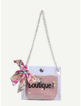 Twilly Scarf Bag With Inner Pouch by Sheinside