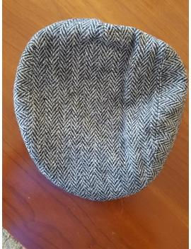 Vintage Used Kangol Design Harris Tweed Newsboy Cap Size Large Union Made In Usa Grey Herringbone by Etsy