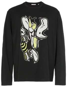 Wasp Print Long Sleeved Cotton T Shirt by Our Legacy