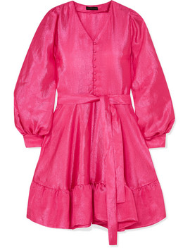 Farrow Ruffled Crinkled Taffeta Mini Dress by Stine Goya