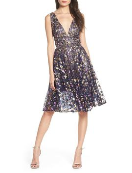 Sequin Fit & Flare Dress by Bronx And Banco