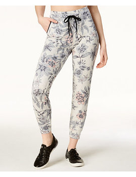 Floral Print Joggers by Calvin Klein Performance