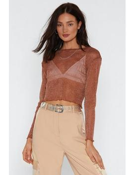 Mesh Off With Mesh Glitter Crop Top by Nasty Gal