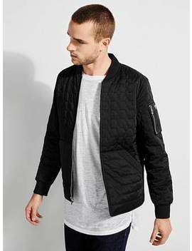 joel-quilted-bomber-jacket by guess