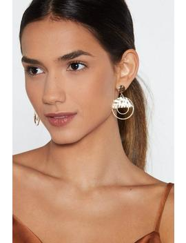 Is It Just Geo Hammered Earrings by Nasty Gal