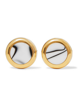 Gold Tone And Resin Earrings by Balenciaga