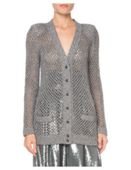Metallic Fishnet Cardigan by Marc Jacobs