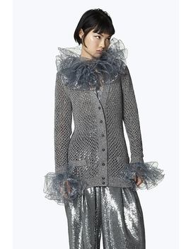Metallic Wool Blend Cardigan by Marc Jacobs