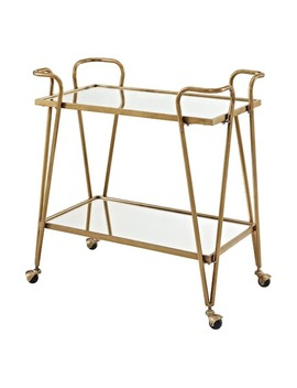 Linon Gold Finish Mirrored Bar Cart by Kohl's