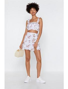 Knowledge Is Flower Floral Mini Skirt by Nasty Gal