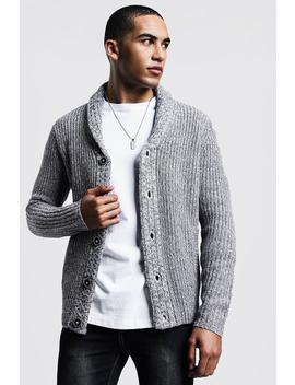 Shawl Neck Knitted Cardigan by Boohoo
