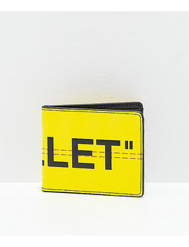 "Artist Collective ""Wallet"" Yellow Bifold Wallet by The Artist Collective"