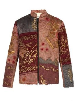 Ecclesiastical 18th Century Silk Panel Jacket by By Walid