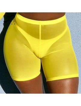 Bikinx Summer Beach Wear Mesh Pants Transparent Bikini 2019 New Bottoms Sexy Swimsuit Female Yellow Swimwear Women Bathing Suit by Swmmer Liket
