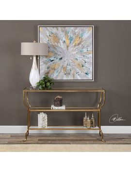 Uttermost Deline Gold Console Table by Uttermost