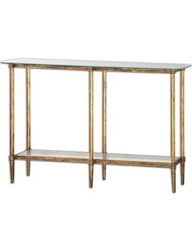 Uttermost Elenio Glass Console Table by Uttermost