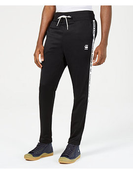 Mens Logo Taped Cropped Track Pants, Created For Macy's by G Star Raw