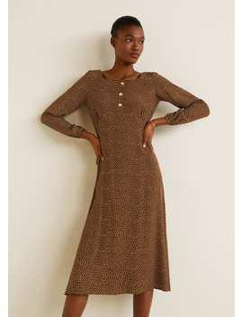 Gemustertes Kleid Mit Polka Dots by Mango