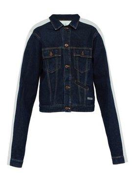 Side Stripe Denim Jacket by Off White