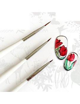 Wgomm   Set Of 3: Nail Art Brush by Wgomm