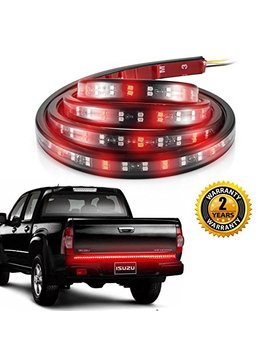 Aloveco Truck Led Tailgate Light Bar 60 Inch Double Row With Reverse, Red/White Tail Strip Light Running Turn Signal Brake Tail Bed Light For Pickup Suv Jeep Rv Van Dodge Ram Chevy Gmc Ford by Aloveco