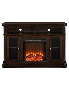 """Centennial Electric Fireplace Tv Console For T Vs Up To 50""""    Espresso   Room & Joy by Room & Joy"""