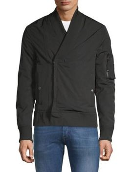 Regular Fit Shawl Collar Bomber Jacket by Diesel Black Gold