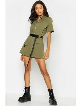 Utility Safety Buckle Cargo Playsuit by Boohoo