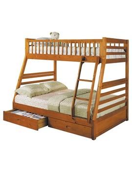 Jason Kids Bunk Bed   Honey Oak(Twin/Full)   Acme by Acme Furniture