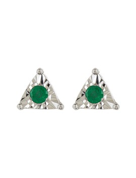 14 K White Gold Emily Sarah Triangle Stud Earrings by Dana Rebecca