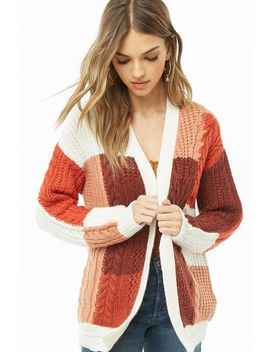 Colorblock Knit Cardigan by Forever 21