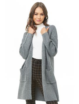 Longline Ribbed Cardigan by Forever 21