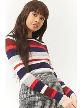 Ribbed Multicolor Striped Jumper by Forever 21