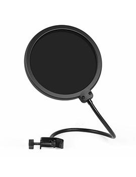 Inno Gear Upgraded Microphone Pop Filter Mask Shield, Dual Layered Wind Pop Screen With Flexible 360° Gooseneck Clip Stabilizing Arm For Awesome Premium Recordings, Broadcasting, Streaming, Singing by Inno Gear