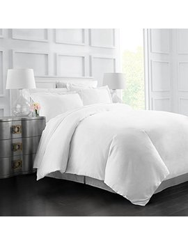 italian-luxury-soft-brushed-1500-series-microfiber-duvet-cover-set---hotel-quality-&-hypoallergenic-with-zippered-closure-&-matching-shams-- king_california-king---white by italian-luxury