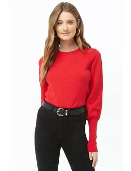 Knit Balloon Sleeve Jumper by Forever 21